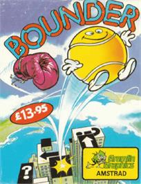 Box cover for Bounder on the Amstrad CPC.