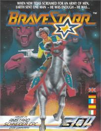 Box cover for BraveStarr on the Amstrad CPC.