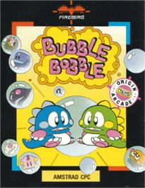 Box cover for Bubble Bobble on the Amstrad CPC.