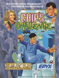 Box cover for Chip's Challenge on the Amstrad CPC.