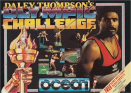 Box cover for Daley Thompson's Olympic Challenge on the Amstrad CPC.