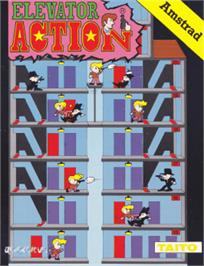 Box cover for Elevator Action on the Amstrad CPC.