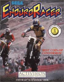 Box cover for Enduro Racer on the Amstrad CPC.