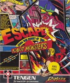 Box cover for Escape from the Planet of the Robot Monsters on the Amstrad CPC.