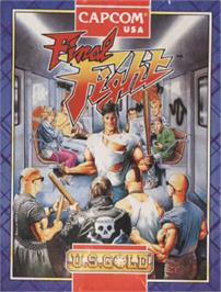 Box cover for Final Fight on the Amstrad CPC.