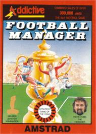 Box cover for Football Manager on the Amstrad CPC.