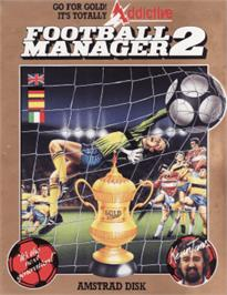 Box cover for Football Manager 2 on the Amstrad CPC.