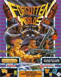 Box cover for Forgotten Worlds on the Amstrad CPC.