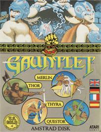 Box cover for Gauntlet on the Amstrad CPC.