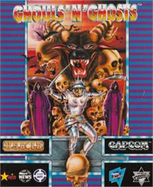 Box cover for Ghouls'n Ghosts on the Amstrad CPC.