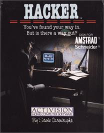Box cover for Hacker on the Amstrad CPC.