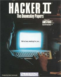 Box cover for Hacker 2: The Doomsday Papers on the Amstrad CPC.