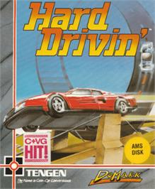 Box cover for Hard Drivin' on the Amstrad CPC.