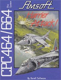 Box cover for Harrier Attack on the Amstrad CPC.