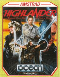 Box cover for Highlander on the Amstrad CPC.