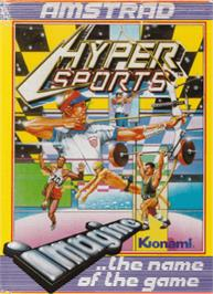 Box cover for Hyper Sports on the Amstrad CPC.