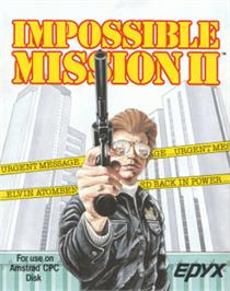Box cover for Impossible Mission 2 on the Amstrad CPC.