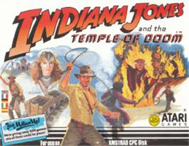 Box cover for Indiana Jones and the Temple of Doom on the Amstrad CPC.