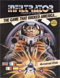 Box cover for Infiltrator on the Amstrad CPC.