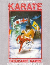 Box cover for International Karate on the Amstrad CPC.