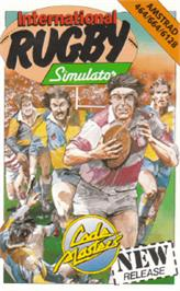 Box cover for International Rugby Simulator on the Amstrad CPC.