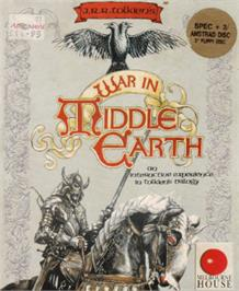 Box cover for J.R.R. Tolkien's War in Middle Earth on the Amstrad CPC.
