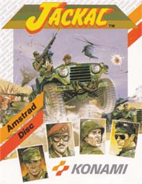 Box cover for Jackal on the Amstrad CPC.