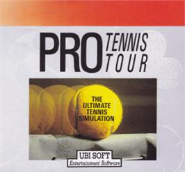 Box cover for Jimmy Connors' Pro Tennis Tour on the Amstrad CPC.