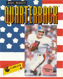 Box cover for John Elway's Quarterback on the Amstrad CPC.