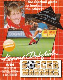 Box cover for Kenny Dalglish Soccer Manager on the Amstrad CPC.