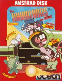 Box cover for Mario Bros. on the Amstrad CPC.