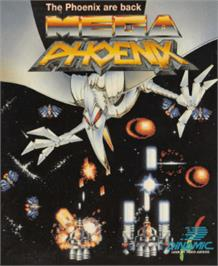 Box cover for Mega Phoenix on the Amstrad CPC.