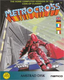 Box cover for Metro-Cross on the Amstrad CPC.