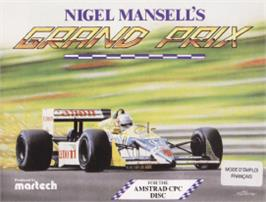 Box cover for Nigel Mansell's Grand Prix on the Amstrad CPC.