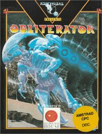 Box cover for Obliterator on the Amstrad CPC.