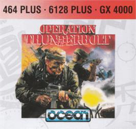 Box cover for Operation Thunderbolt on the Amstrad CPC.