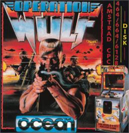 Box cover for Operation Wolf on the Amstrad CPC.