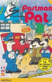 Box cover for Postman Pat on the Amstrad CPC.