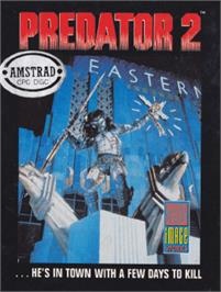 Box cover for Predator 2 on the Amstrad CPC.