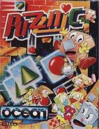 Box cover for Puzznic on the Amstrad CPC.
