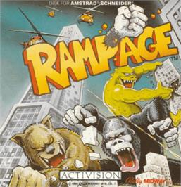 Box cover for Rampage on the Amstrad CPC.