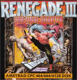 Box cover for Renegade III: The Final Chapter on the Amstrad CPC.