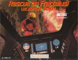 Box cover for Rescue on Fractalus on the Amstrad CPC.