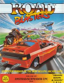 Box cover for Road Blasters on the Amstrad CPC.