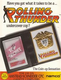Box cover for Rolling Thunder on the Amstrad CPC.