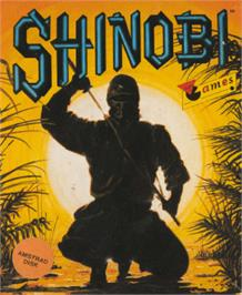 Box cover for Shinobi on the Amstrad CPC.