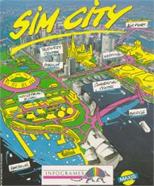 Box cover for Sim City on the Amstrad CPC.
