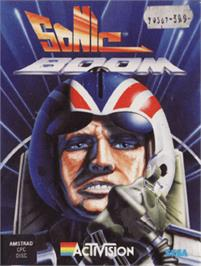 Box cover for Sonic Boom on the Amstrad CPC.