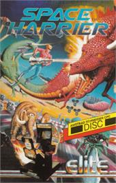 Box cover for Space Harrier on the Amstrad CPC.