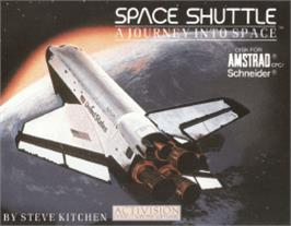 Box cover for Space Shuttle: A Journey into Space on the Amstrad CPC.